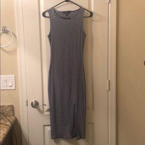 Knee high striped dress